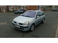 2005 RENAULT CLIO 1.2 DYNAMIQUE MOT AND TAXED GREAT CONDITION CHEAP INSURANCE