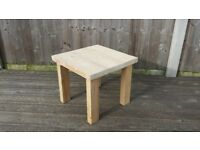 Small coffee / side table upcycled wood - good for garden or conservatory
