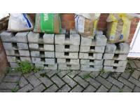 Concrete deck blocks x 24