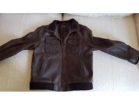 Boys real leather jacket £15 open to reasonable offers