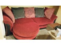 MODERN DFS LEFT OR RIGHT HANDED CORNER SOFA INCLUDES FREE DELIVERY.