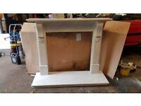 Carrera Marble Fireplace