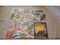 Vintage 70s Eagle and Battle Comic Books 6 titles