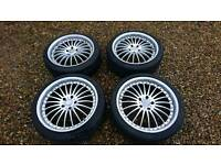 """Vw 5x120 20"""" alloy wheels with tyres"""