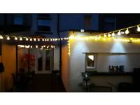 Garden party lights indoor and outdoor weatherproof xmas festoon