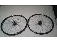 """26"""" mountain bike wheels, front and back set"""