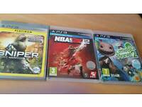 LOT OF 3 GAMES FOR PS3 LITTLE BIG PLANET 2, SNIPER, NBA 2K12