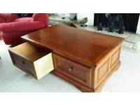 Large coffee table and matching side table