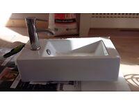 small toilette sink
