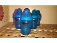 6 blue tommee tippee bottles