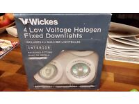 4 low voltage GU5.3 downlighters (no transformer)