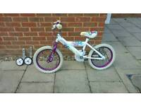 Girls style bike 16 inch with stabilisers