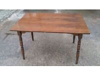 TABLE FOR SALE - LAMINATED TOP AND SOLID WOOD LEGS