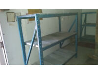 APEX LONG SPAN HEAVY DUTY RACKING 1.7m HIGH IDEAL WHERE HEIGHT IS AT A PREMIUM, GARAGES,STORES ETC.