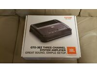 CAR AMPLIFIER JBL GTO-3EZ 3 CHANNEL AMP FOR SPEAKERS AND SUBWOOFER BY HARMAN SUB WOOFER