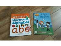 Two wipe clean alphabet and activity books NEW