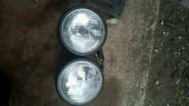 Dominator style headlight and led tail tidy