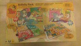 BRAND NEW TOM AND JERRY ACTIVITY PACK BOXED AND SEALED COMES WITH 4 ACTIVITIES