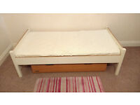 Mamas & Papas cotbed, changing table, wardrobe and under bed storage