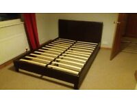 Double leather effect bed frame . No matress