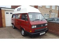 Vw camper T25 only 1 previous owner with Petrol and LPG conversion.