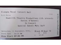 2 tickets for Daniel O'Donnell at Glasgow Royal Concert Hall