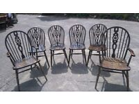 6 wheelback chairs