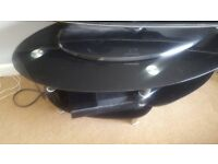 Small black glass coffee table
