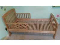 Toddler bed and mattress - excellent condition