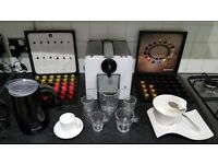 Krups Le Cube Nespresso Machine, Dualit Milk Frother, Cups and 85 original Capsules ABSOLUTE BARGAIN