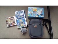 Nintendo 2DS console, charger, case & 3 games
