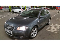 2007 AUDI A3 1.9 TDI 3DR MANUAL- VERY ECONOMICAL- BARGAIN - 86k ONLY !!!