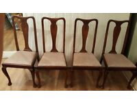 Set Of 4 Queen Anne Chairs