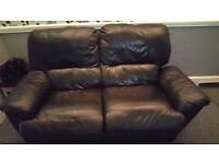 Leather recliner sofa £50
