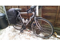 2014 DAWES GALAXY AL TOURING BIKE IN EXCELLENT CONDITION LITTLE USED HENCE SALE PANIER BAGS, BOTTLES