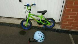 Boys bike and helmet