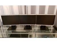 """HP 19"""" LA1906wg Widescreen Monitors (x3)"""
