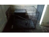 "Medium sized dog crate/cage 30"" 2 door"