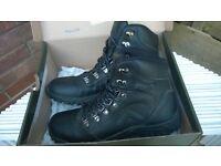 GELERT Waterproof Walking Hiking Boots. Black Leather Coated. Cost £54.99. Worn 3 days. UK 7