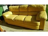 three seat leather sofa