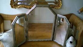 pretty triple dressing table mirror