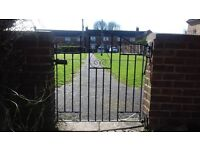 Garden gate - small iron black. latch gate - with fittings