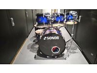 7 Piece, Maple SONOR FORCE 3007 Drum kit, Midnight fade