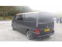 vw transporter t4 2.5tdi lwb 9 seater bed a/c .s/history owned for 7 years tailgate