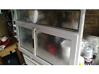 Double glazed front door and glass panel