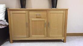 Oak sideboard and tv unit