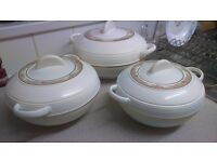 Set of 3 thermal bowls with lids