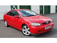 VAUXHALL ASTRA BERTONE 1.8 DUAL FUEL LPG GAS *FACTORY-FITTED*! LEATHER XENONS 53 REG 122K FLAME RED
