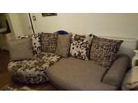 DFS Large Brown/Beige sofa immaculate