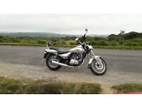 Kawasaki eliminator 125cc, silver, 2007 reg. 5823 mileage.Good condition for age usual wear and tear